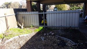 Back yard tidying, clean up, excavation works